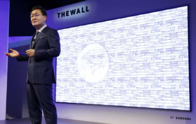 Samsung The Wall Micro-LED TV showcased