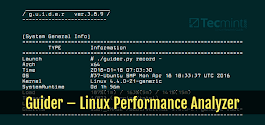 Guider - A System Wide Linux Performance Analyzer