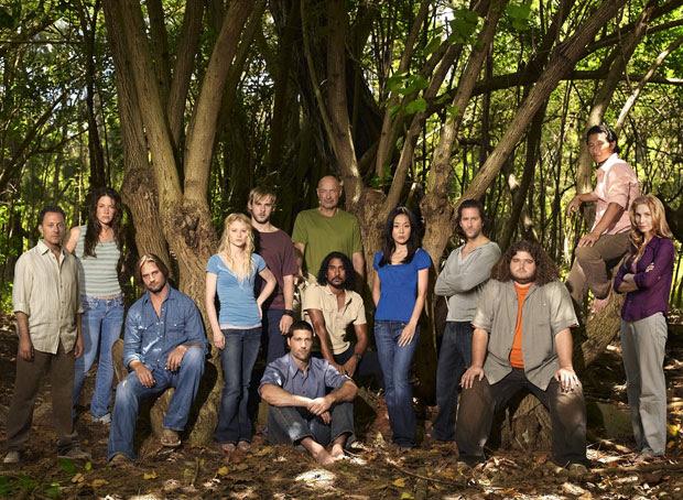 'Lost' no meio: o elenco da série na terceira temporada da  série.