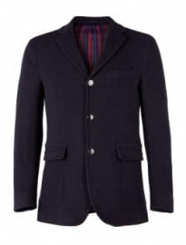 Our Legacy Navy Lined Melton Wool Blazer