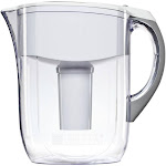 Brita 35565 Grand Pour Through Filter Pitcher, White, 10 Cup Capacity