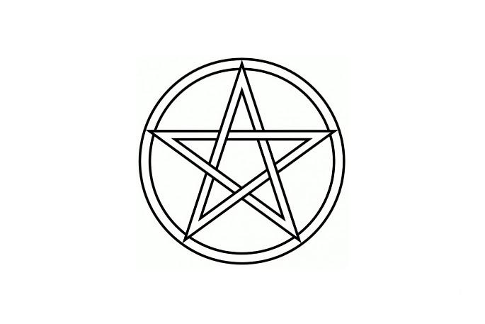 Wisiorek srebrny Pentagram