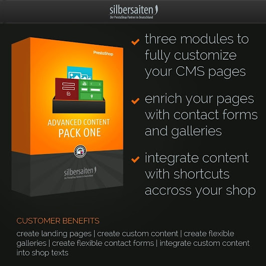 Advanced Content Pack One - PrestaShop Addons