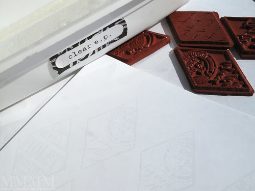 1a stamp POD diamonds in versamark heat emboss in clear embossing powder