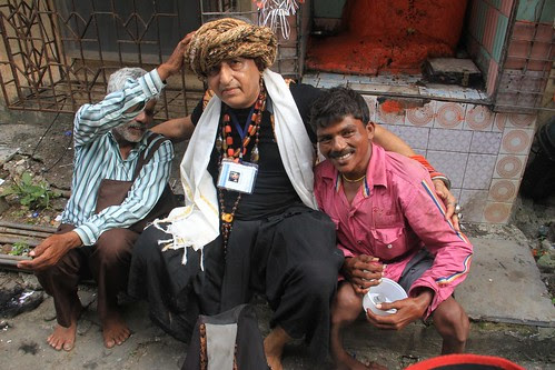 The Beggar Poet And The Beggars Of Banganga by firoze shakir photographerno1