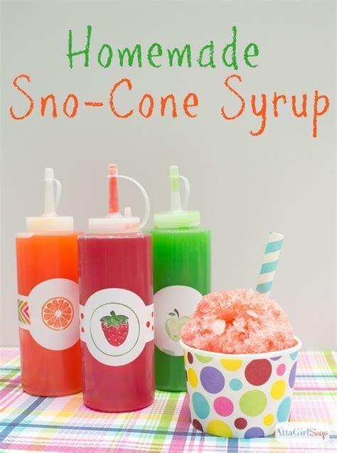 Homemade Snow Cone Syrup   Recipe   Snow cones   Pinterest