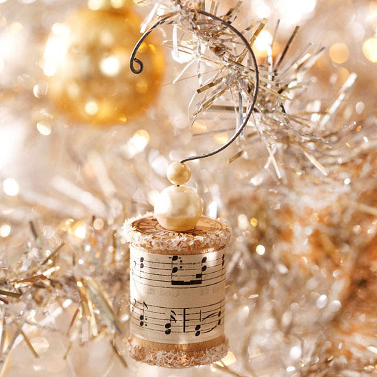vintage thread spool Christmas ornament