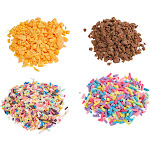 Genie Crafts 4-Pack Fake Candy Clay Sprinkles for Slime Accessories, Artificial Dessert, and DIY Crafts, 4 Designs, 100 Grams