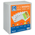 Samsill S88417 0.5 in. Economy Durable View Binder - White Pack of 8