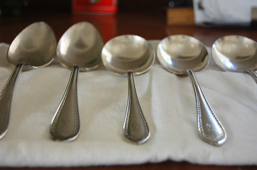 old silver, polished