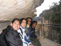 Kat Bawah Batu Three Sisters Kat Blue Mountains, Australia
