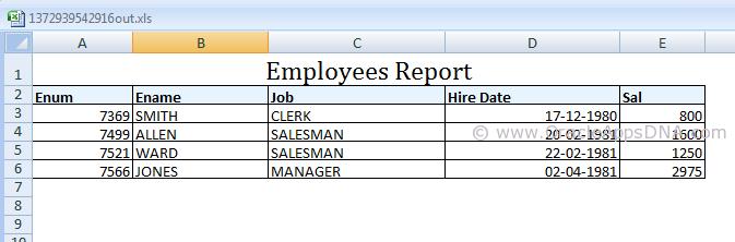 Emp Report Output