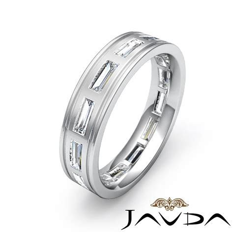2.20 Ct Bezel Set baguette Men's Diamond Eternity Wedding