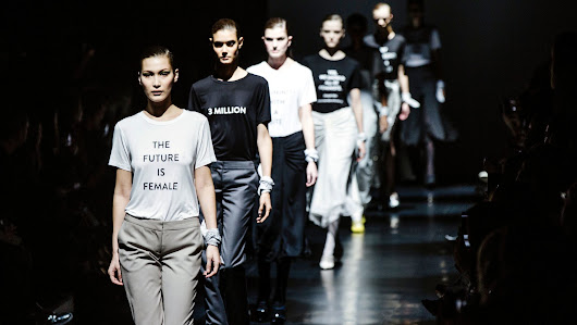 In this new era, politics is on trend on the runways at New York Fashion Week