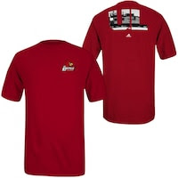 adidas Louisville Cardinals Campus Icon T-Shirt - Red