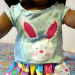 3 Piece Bunny Doll OUTFIT fits American Girl by babymarbles