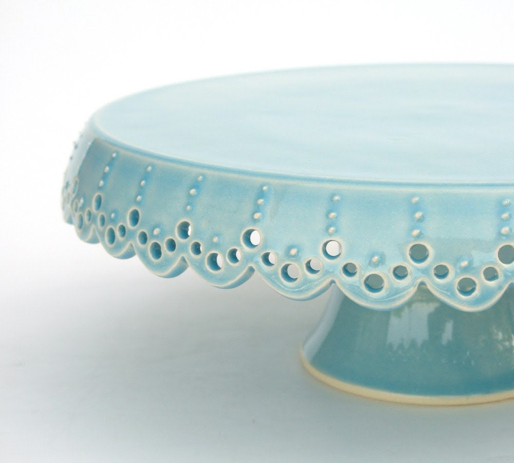 "Cake Stand - Lace - 7"" - MADE TO ORDER"
