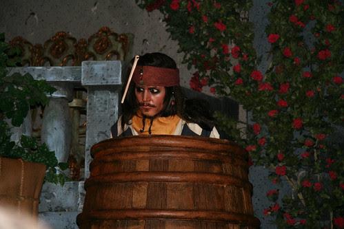 Jack Sparrow in a barrel