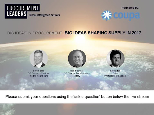 Big Ideas Shaping Supply in 2017 Webinar