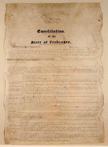 English: First page of the Constitution of the...