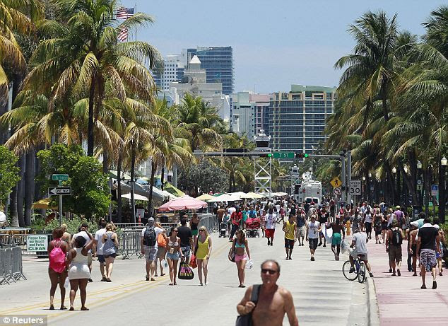 Issues: The victim was in hospital as traffic was clogged for hours as people used the route to get to the annual Urban Beach Week festival (pictured)