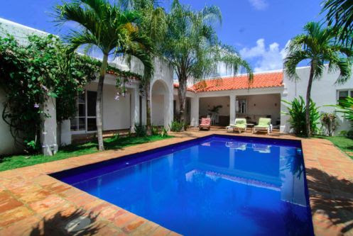 Perfect tropical oasis with pool inside gated beachfront community Dominican Republic Real Estate Properties - Luxury Caribbean Villas and Beachfront Properties