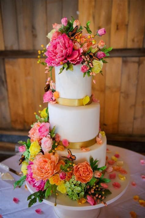 You have to see Sugar Flower & Butterfly Wedding Cake on