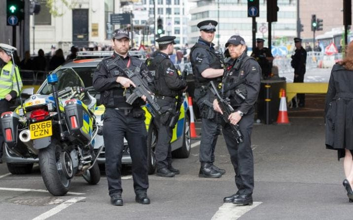 Armed police are receiving specialist training to deal with new threats