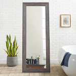 Freestanding Cheval Floor Mirror by Naomi Home Finish Gray