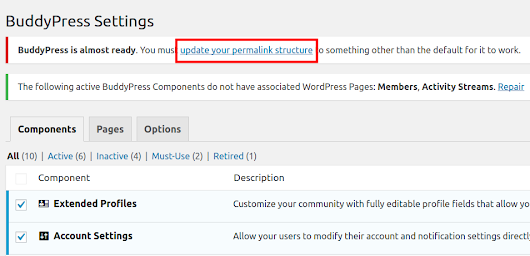 Updating your BuddyPress Permalink Structure in WordPress | InMotion Hosting