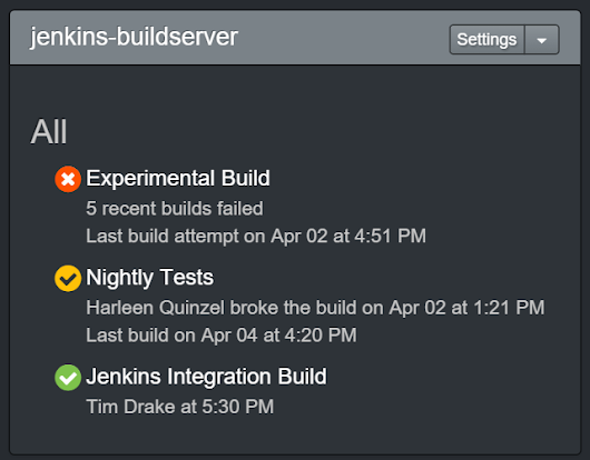 Jenkins Build Status Notifications - CatLight