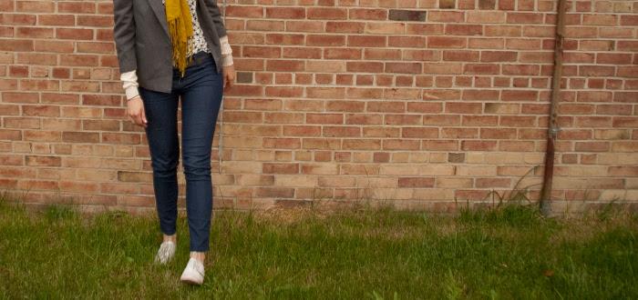 stars jeans boy's blazer, dashdotdotty dash dot dotty how to wear gray oxfords sockless fashion blog omg