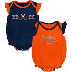 University of Virginia Cavaliers Creeper 2 Pack Homecoming Bodysuit Set