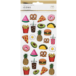 168pc Food Stickers - American Crafts, Adult Unisex