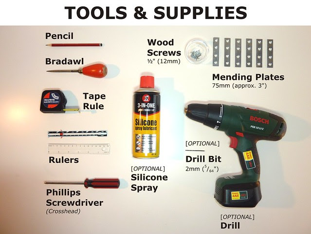 Tools and Supplies Used