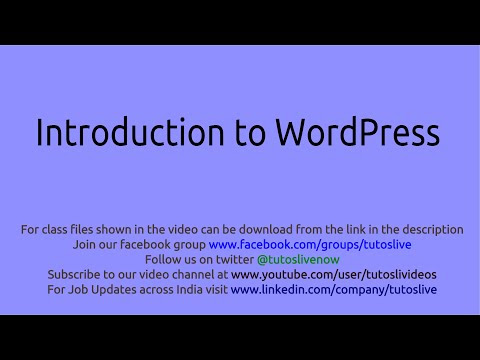 WordPress Paid Project Specifications Explanation in a Live Class on PHP and MySQL