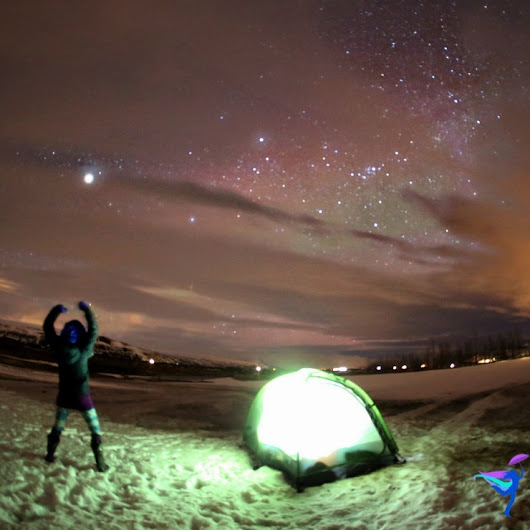 My First Time Winter Camping – Miðhvammur, Iceland | Crazyintherain-The Legendary Adventures of Anna