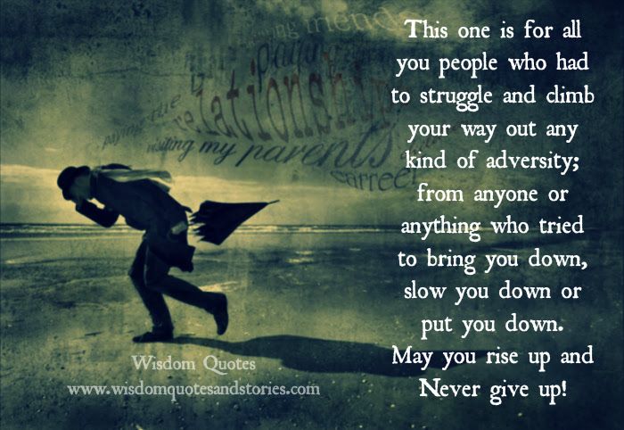 Rise Up And Never Give Up Wisdom Quotes Stories