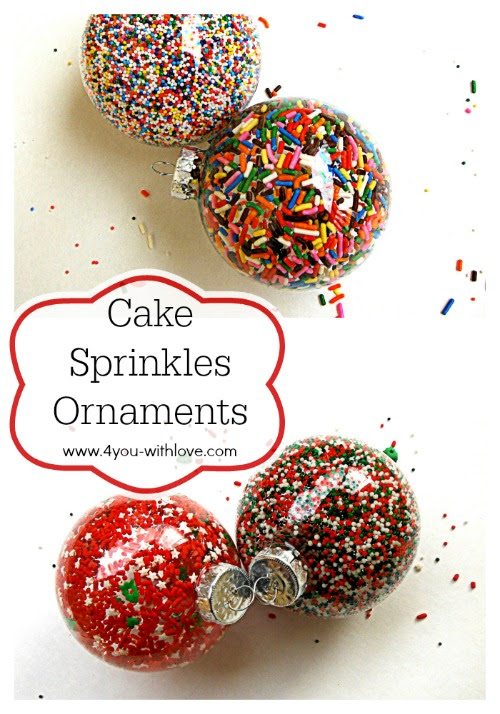 Cake Sprinkle Ornaments & Craft Lightning