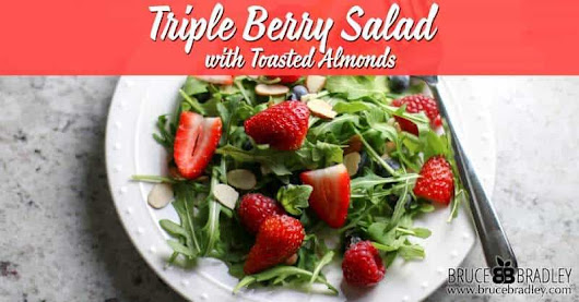 Triple Berry Salad with Toasted Almonds