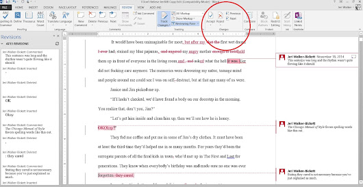 #AmEditing: Track Changes and Comments in Word - JeriWB Word Bank