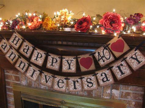 Silver Wedding Anniversary Banner Can Custom Heart, Ribbon
