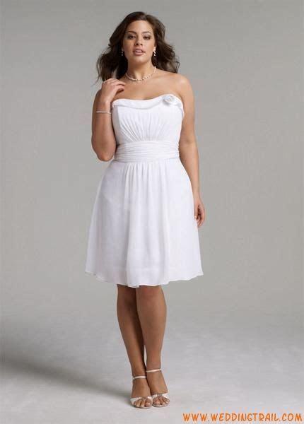 Cheap Simple Plus Size Summer Beach Chiffon Short Wedding