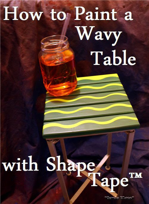 how to paint a wavy side table with Shap Tape
