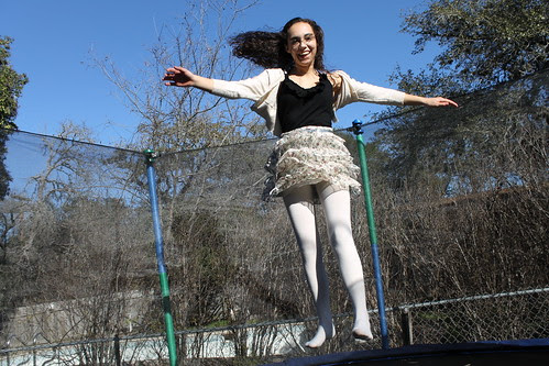 Zoe on the trampoline