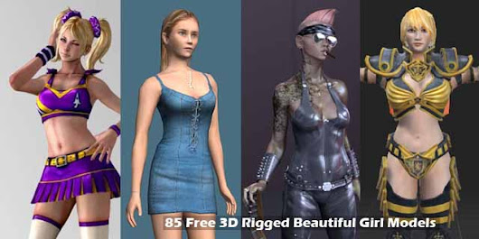 85 Free 3D Rigged Beautiful Girl Models - RockThe3D