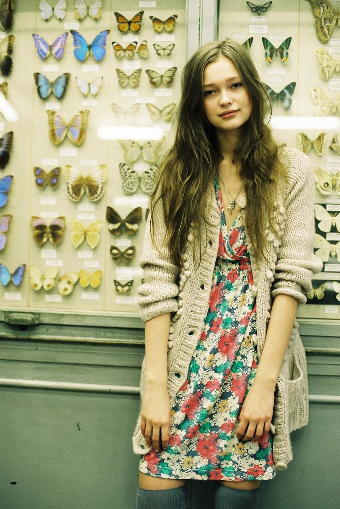 cardigans / dresses / long hair / reconsidering florals