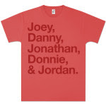 New Kids on the Block Red Flock T-Shirt
