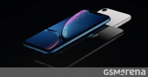 "Apple iPhone XR has a tall 6.1"" LCD with a notch, single camera on the back"