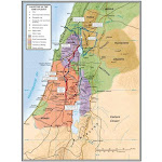 B & H Publishing Group 469617 Map-Palestine in The Time of Jesus - 19.25 x 26 in.